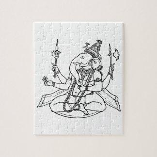 Ganesh, the Hindu God of Luck Puzzles