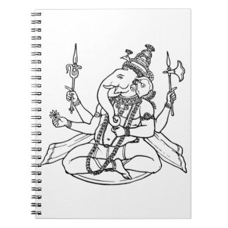 Ganesh the Hindu God of Luck Spiral Note Book