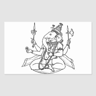 Ganesh, the Hindu God of Luck Rectangle Stickers