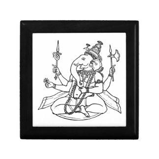 Ganesh the Hindu God of Luck Trinket Boxes