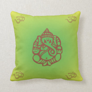 Ganesh Yoga Pillow green/yellow