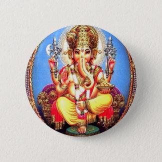 Ganesha (गणेश) Indian Elephant 6 Cm Round Badge