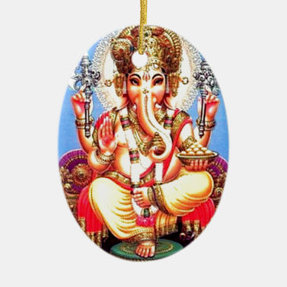 Ganesha (गणेश) Indian Elephant Christmas Ornament