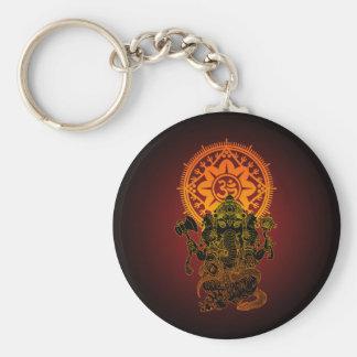 Ganesha 02 basic round button key ring