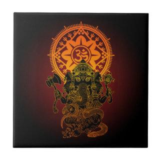 Ganesha 02 small square tile