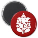 Ganesha 6 Cm Round Magnet