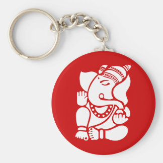Ganesha Basic Round Button Key Ring