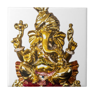 Ganesha by Vanwinkle Designs Small Square Tile