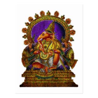 Ganesha Deva antique | make your own background Postcard