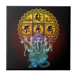 Ganesha Diamond Realm Small Square Tile