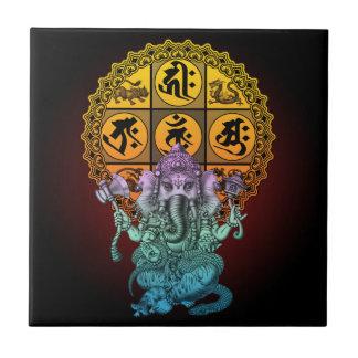 Ganesha Diamond Realm Small Square Tile