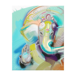 Ganesha - elephant buddha - art print on canvas