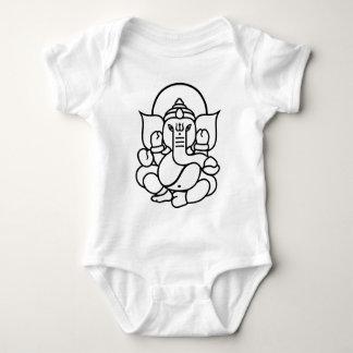 Ganesha Elephant No. 3 (black white) Baby Bodysuit