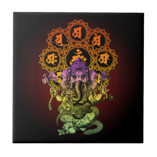 Ganesha Guitar 01 Small Square Tile