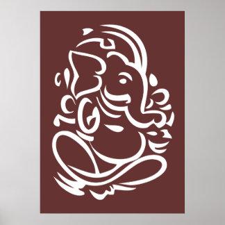Ganesha - Hindu God Sign Poster