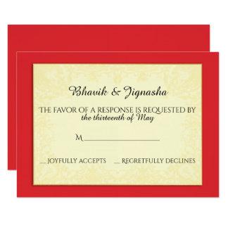 Ganesha Indian Wedding Response Card 9 Cm X 13 Cm Invitation Card