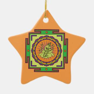 Ganesha Mandala Ceramic Star Decoration