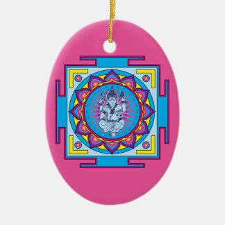Ganesha Mandala Christmas Ornament