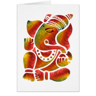 Ganesha Multicolor Painting Greeting Card