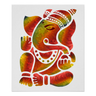 Ganesha Multicolor Painting Posters