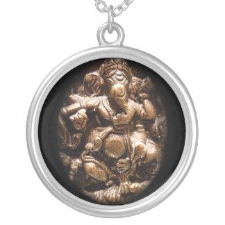 Ganesha Pendannt Round Pendant Necklace