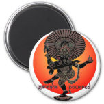 Ganesha Powered 6 Cm Round Magnet