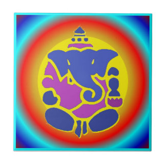 Ganesha Rainbow tile