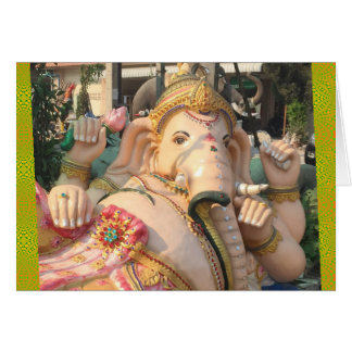Ganesha Reclining, Thailand Card