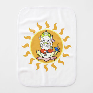 Ganesha: remover of obstacles burp cloth