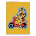 Ganesha Riding a Scooter Greeting Card