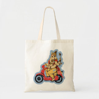 Ganesha Riding a Scooter Tote Bag