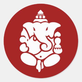 Ganesha Round Sticker