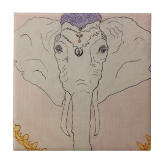 Ganesha Small Square Tile