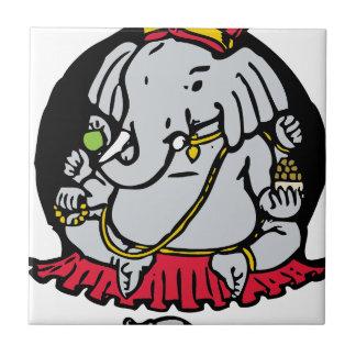 Ganesha Small Square Tile