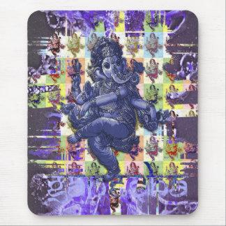 GANESHA | violet paint splatter Mousepads