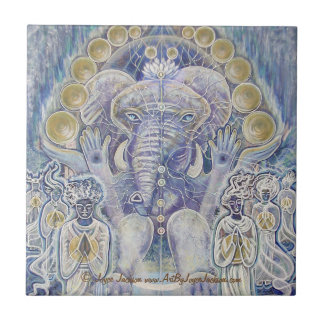 Ganesha Wealth Blessing Ceramic Tiles