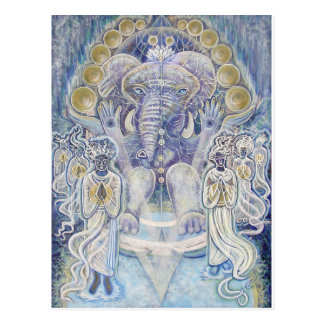 Ganesha Wealth Blessing Postcard
