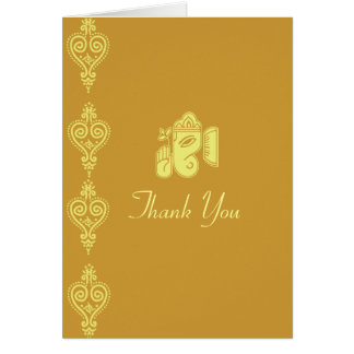 Ganesha Wedding Thank You Cards