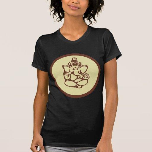 Ganesha Women's Dark T-Shirt Tshirts