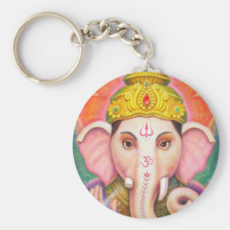 Ganesha's Blessings Basic Round Button Key Ring