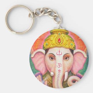 Ganesha's Blessings Basic Round Button Key Ring