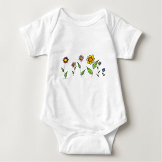 Gang-o-Flowers Baby Bodysuit