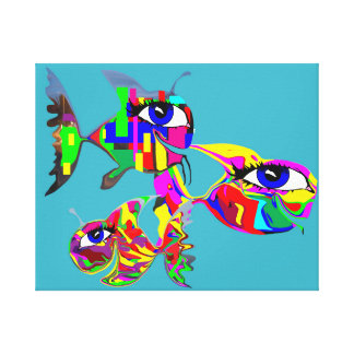 Gang of Happy Fish Canvas Print