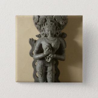 Ganga, goddess who personifies the sacred River Ga 15 Cm Square Badge