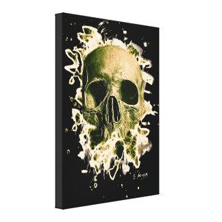 Gangs Skull - greenish Canvas Print
