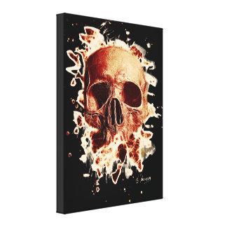 Gangs Skull - reddish Canvas Print