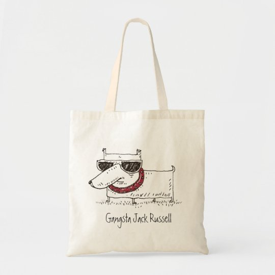 Gangsta fun dog Jack Russell Terrier Tote Bag