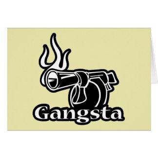 Gangsta - Gangster Revolver Gun Pistol Greeting Cards