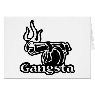 Gangsta - Gangster Revolver Gun Pistol Greeting Card