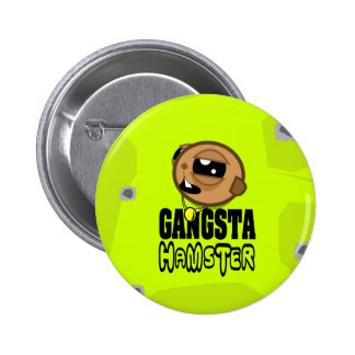 Gangsta Hamster T - Shirt - logo green big 6 Cm Round Badge